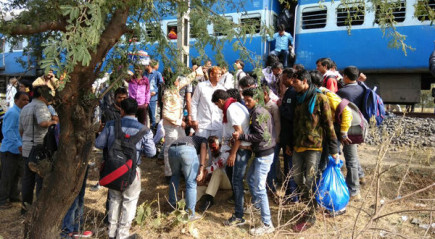 train bomb blast shajapur